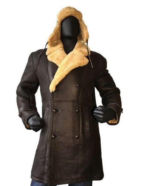 Compre Moda Masculina Preta Dos Homens Do Estilo De Pele De Carneiro Casaco De Pele Motocicleta Pele De Carneiro Casaco Blusão De Pele Do Inverno Dos
