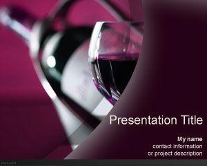 wine bottle powerpoint template | powerpoint | pinterest | wine, Presentation templates