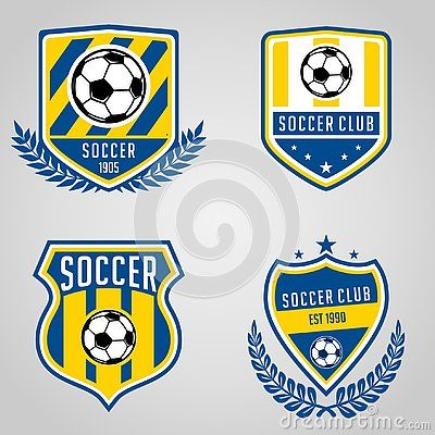 Set Of Soccer Football Club Logo Templates Sport Team Identity Soccer Football Labels Wi Modern Business Cards Design Logo Design Collection Shop Logo Design