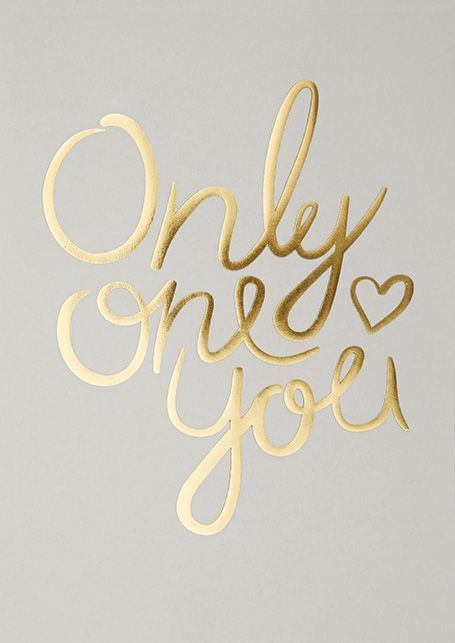 "I LOVE MY TYPE Poster ""Only one You"" von I LOVE MY TYPE"