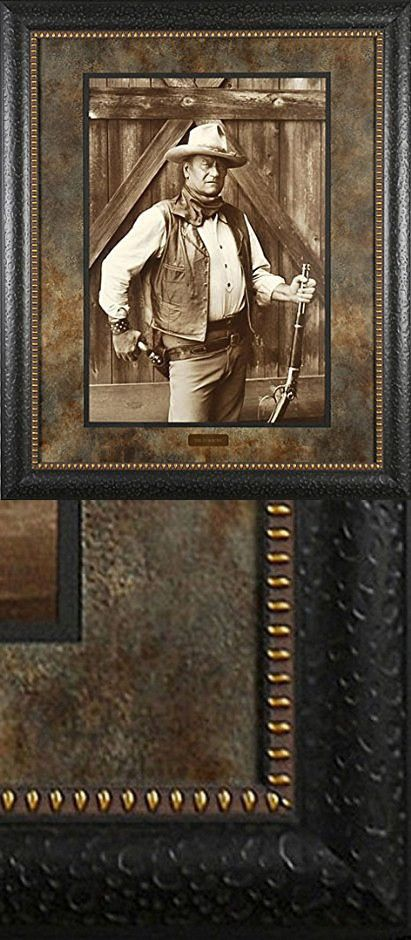 John Wayne The Cowboys Bob Willoughby 29x35 Gallery Quality Framed Print Western Picture Movie Wall Art Art Framed Prints