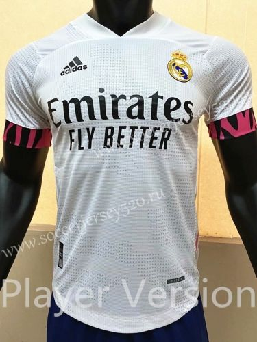 Player Version 2020 2021 Real Madrid Home White Thailand Soccer Jersey Aaa In 2020 Soccer Jersey Real Madrid Soccer