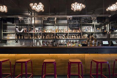 Contemporary Decor Bar Restaurant Interior Design Rayuela Lower East