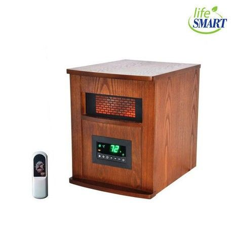 Lifesmart Infrared Heater w// 3 Superior Wrapped Heating Elements Open Box