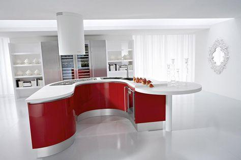 Cucina rossa: vi siete innamorati del rosso per la cucina ...