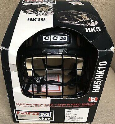 Advertisement Ebay Ccm Hk5 Hk10 Adjustable Black Hockey Helmet Combo Cage Large With Images Hockey Helmet