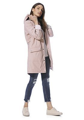classic differently exquisite style F&F Rubberised Shower Resistant Hooded Raincoat | Fashion ...