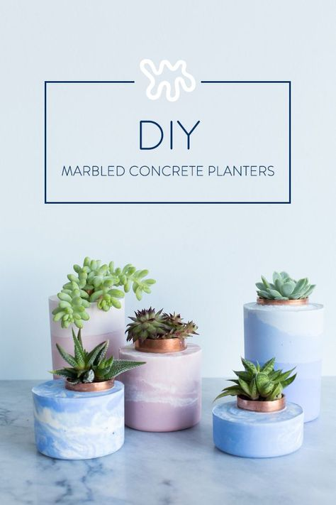 While painting the dull gray surface of standard concrete works, I knew there had to be a cooler way of coloring these little plant homes. After some research and hands-on testing, it turns out that the trick is starting with white concrete and stirring i