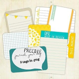 Free journal your day cards for project life