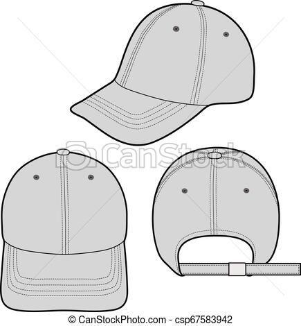 Baseball Cap Fashion Design Template In 2020 Drawing Clothes Fashion Design Template Fashion Design Drawings