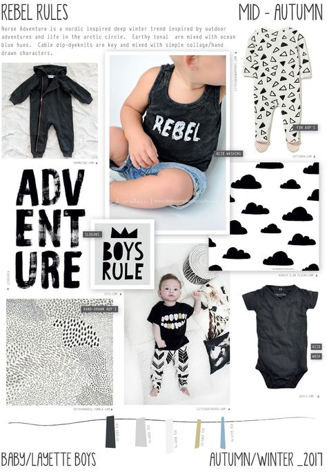 Emily Kiddy: Rebel Rules - Autumn/Winter 2016/17 - Baby/Layette Boys Trend
