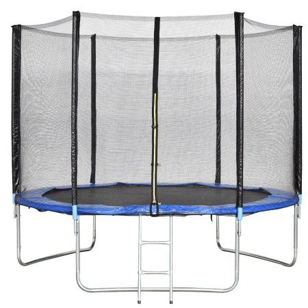Gymax 10 Ft Trampoline Combo Bounce Jump Safety Enclosure Net W Spring Pad Ladder Walmart Com In 2020 Trampoline Best Trampoline Kids Trampoline