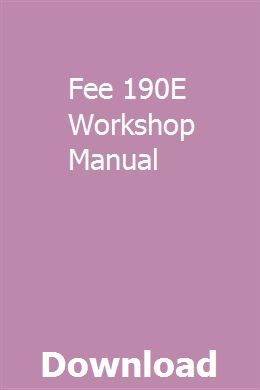 Fee Download190e Workshop Manual Repair Manuals Manual Free College Textbooks