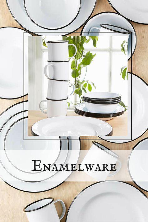 ad 16-piece Edged Enamelware...