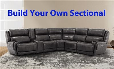 Spencer Build Your Own Sectional With Power Headrests And Usb Ports In Satellite Leather By Parker House Mspe Byo Sat Reclining Sectional Build Your Own Sectional Sectional Sofa With Recliner