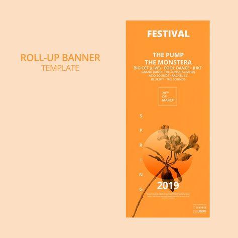 Arregace Banner Modelo Com Conceito De Festival De Primavera