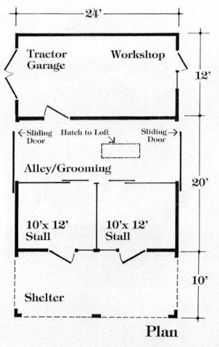 Barn Plans. Like this. Would have stall doors that allowed the ...
