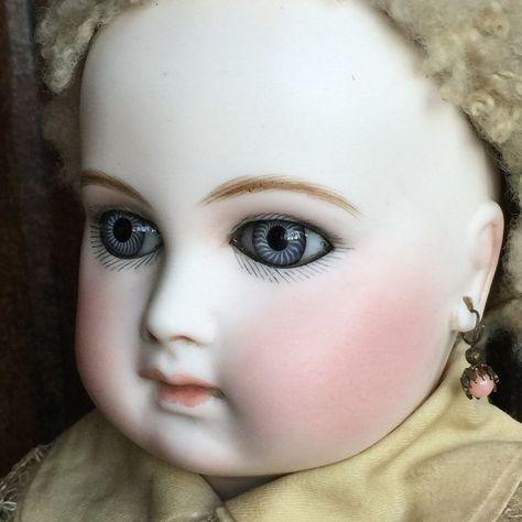 Rare Vintage French Jumeau Doll Earrings Handblown Glass 7 Pairs