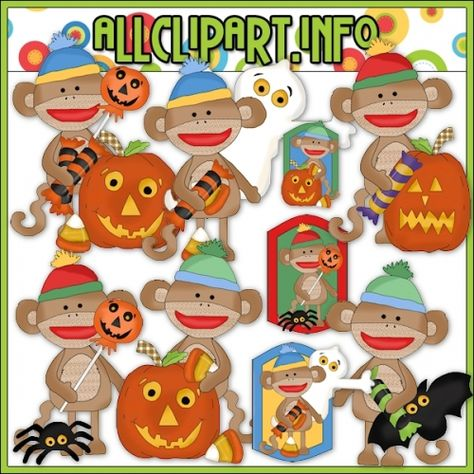 Silly Sock Monkey Halloween Clip Art 1 00 Welcome To