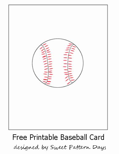Printable Baseball Card Template Unique Free Printable Baseball Card Baseball Card Template Card Templates Printable Card Templates Free