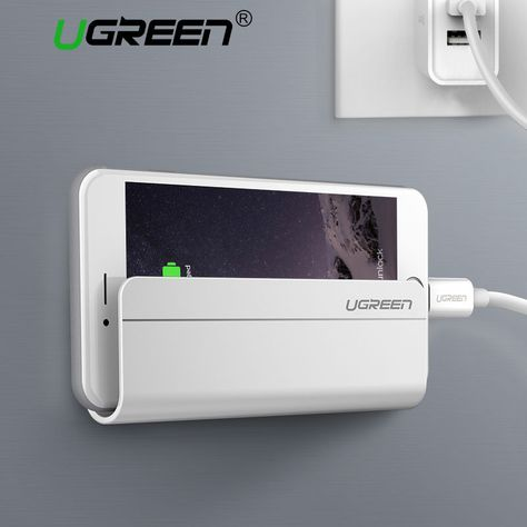 Ugreen Universal Wall Stand Mount Phone Charger Holder For Iphone Samsung  Tablet fcf35bd5eebb