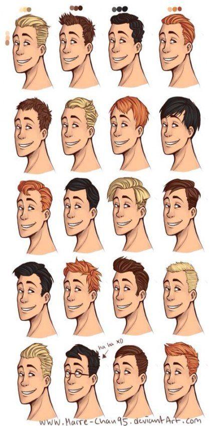 Hair Drawing Male Hairstyles 35 Ideas Cartoon Hair How To Draw Hair Drawing Hair Tutorial