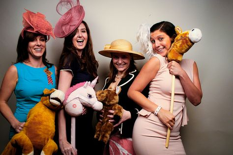 stick horses for photo booth..AWESOME! :: Kentucky Derby Party