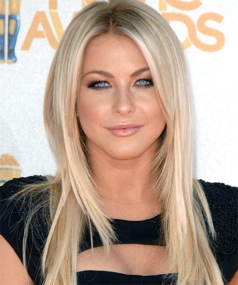 Julianne Hough Long Straight Hairstyle Light Blonde Hair