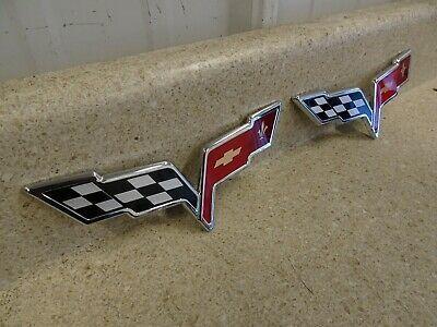 05 13 Corvette C6 Z06 Grand Sport Front Bumper Rear Trunk Emblem Ebay In 2020 Corvette C6 Z06 Corvette Bumpers