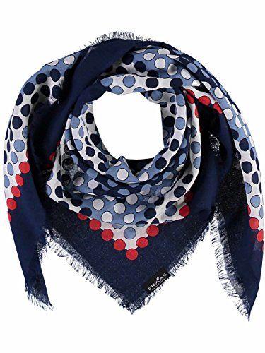 hochwertiger Damen Schal mit Sterne XXL Maxi Stola Tuch quadratisch