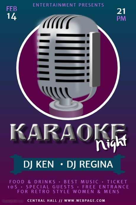 Free Karaoke Flyer Template  Postermywall  Karaoke Flyer