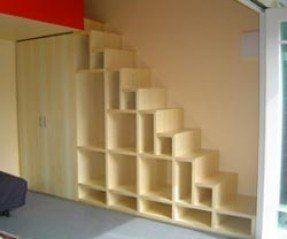 Loft Beds With Steps Ideas On Foter In 2020 Staircase Storage Space Saving Staircase Stair Shelves