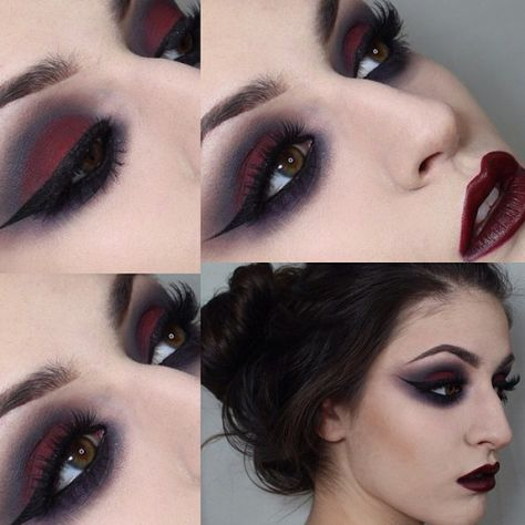 Looking for for ideas for your Halloween make-up? Browse around this site for cute Halloween makeup looks. Makeup 101, Dark Makeup, Makeup Inspo, Makeup Inspiration, Beauty Makeup, Makeup Looks, Makeup Ideas, Goth Eye Makeup, Costume Makeup