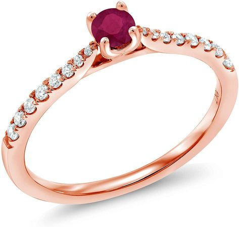 tusakha .925 Sterling Silver Solitaire 14K Rose Gold Plated Round Shaped Pink Sapphire Mens Wedding Band Engagement Ring