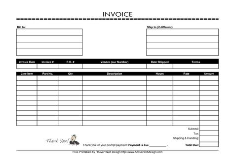 free printable invoice template 9 examples of printable invoice - sample printable invoice