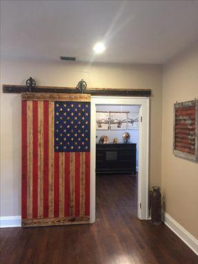 Custom Made American Flag Barn Door Interior Barn Doors American Flag Bedroom Barn Door
