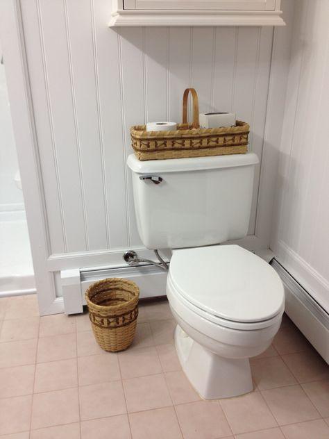 Bathroom Set Toilet Tank Topper And Waste Basket Done With Smokes Cherokee Wheels Waste Basket Toilet Tank Handmade Baskets