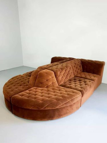 This Multifunctional Sofa Is Comfortable And Has A Very Soft Velour Quality Fabric The Chocolate Brown Set Velvet Sofa Set Lounge Sofa Brown Lounge