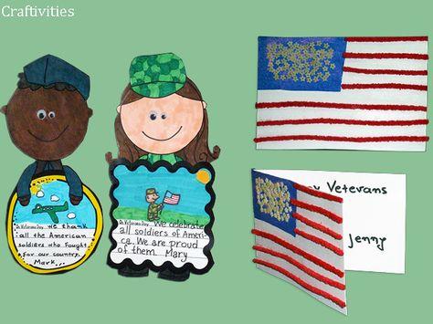Veterans Day craftivities - from my Veterans Day pack.