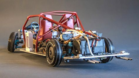 This 3D-printed RC car has unbelievably realistic suspension movement