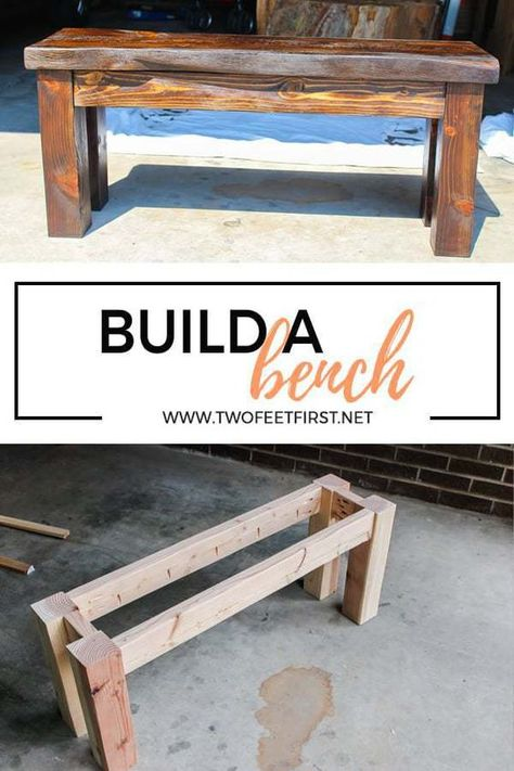 DIY Wood Bench Are you looking for a simple way to build a cheap wooden bench? Here is a DIY tutorial on how to build a wood bench using a Kreg Jig. The post DIY Wood Bench appeared first on Woodworking Diy. Easy Woodworking Projects, Popular Woodworking, Woodworking Bench, Woodworking Shop, Woodworking Classes, Woodworking Techniques, Woodworking Chisels, Woodworking Basics, Woodworking Machinery