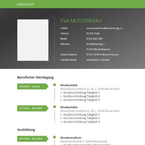 Modern and clean #CV template   Moderne und übersichtliche #Lebenslauf-Vorlage für Word.