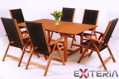 Drevený záhradný nábytok - set Adan 3, drevo meranti