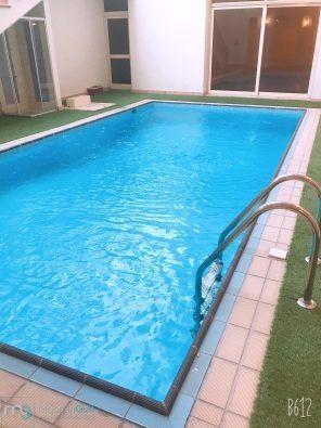 للإيجار فيلا فخمة جدا مجددة بالكامل في السرة دورين ونصف وسرداب وحمام سباحة خمس غرف منهم رئيسية دوبلكس وصالات مفتوحة وديوانية وحوش ساقط Pool Villa Renovations