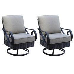 Backyard Creations Boulder Creek Club Rocker Patio Chair