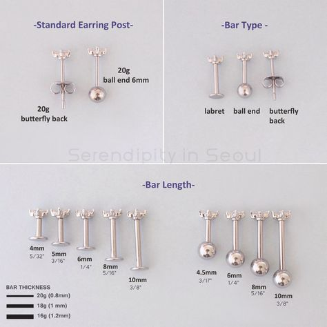 Wing Cartilage & Helix Stud Earring | Curved Ear Piercing – Serendipity in Seoul