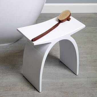 Lacava Sottile Solid Surface Accent Stool Wayfair Accent Stool Stool Free Standing Bath Tub