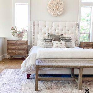 Harper Tufted Upholstered Tall Bed Upholstered Bed Master Bedroom Upholstered Bedroom Tufted Bedroom Cream upholstered bedroom ideas