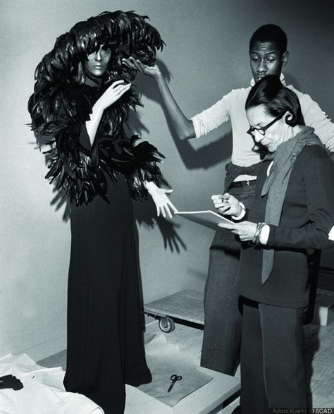 André Leon Talley and Diana Vreeland, © Photo: Bill Cunningham for the New York Times
