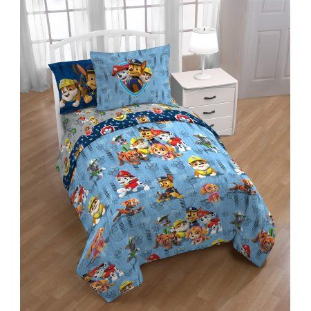 Paw Patrol Bed In A Bag Twin Bedding Set With Bonus Tote Walmart